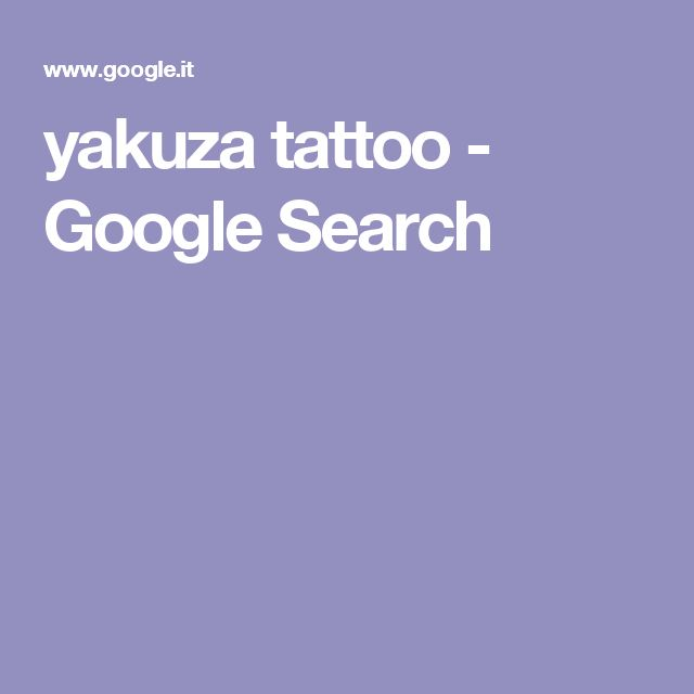 yakuza tattoo - Google Search