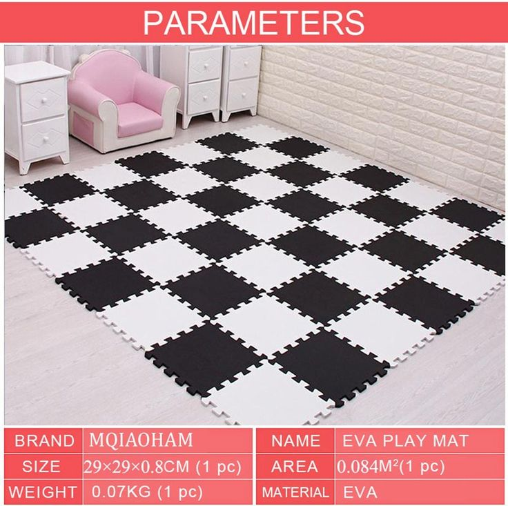Mqiaoham Puzzle Eva Foam Material Play Fence Mat For Infant And Kid Jigsaw Pad Floor For Baby Crawling Puzzle Mat 29x29cmx0 8cm