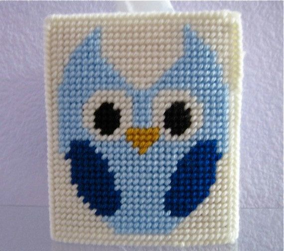 Tissue Box Cover Blue Owl Room Decor by NanaLetha on Etsy