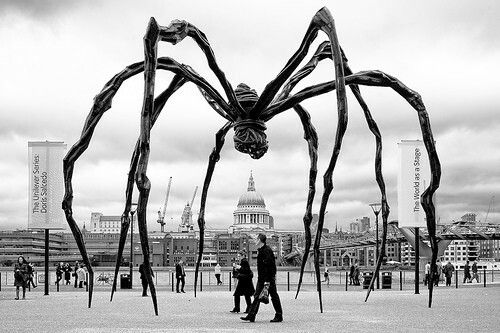 Maman is a bronze, stainless steel, and marble sculpture by the artist Louise Bourgeois. The sculpture, which depicts a spider, is among the world's largest, measuring over 30 ft high and over 33 ft wide.