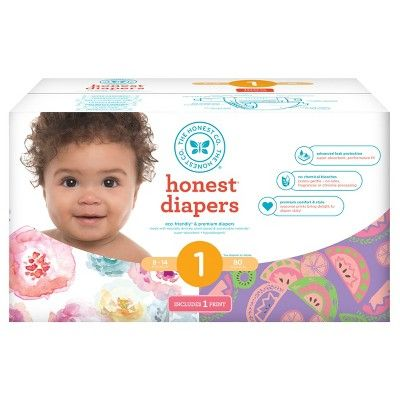 Find product information, ratings and reviews for Honest Company Rose Blossom/Sliced Fruit Club Pack 80ct Disposable Diapers Size 1 online on Target.com.
