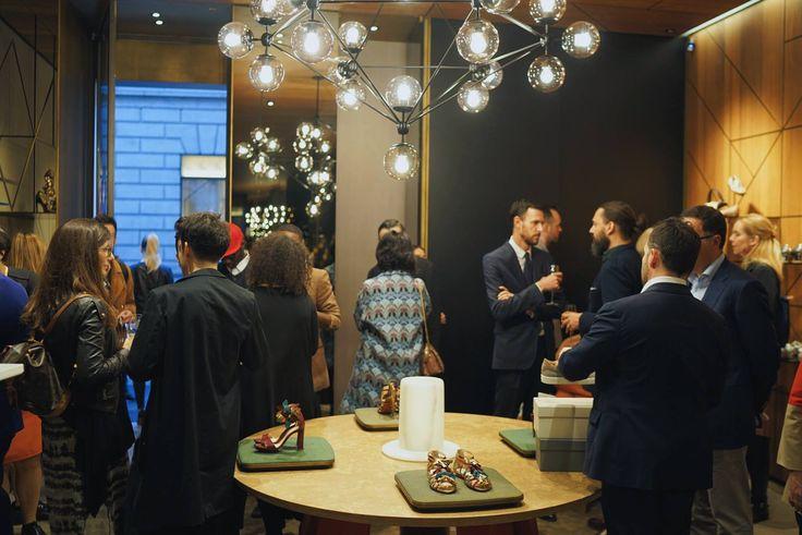 Santoni | Salone del Mobile Cocktail Event  #MilanDesignWeek #Santoni #SantoniShoes #Budri #PatriciaUrquiola