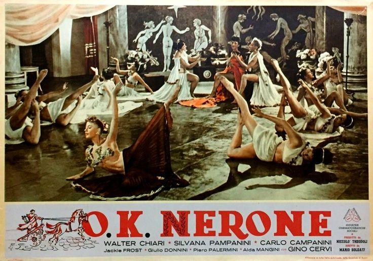 "Chorus girls. Lobby card for Mario Soldati's ""O.K. Nerone"" (English title: ""O.K. Nero!"", 1951)."
