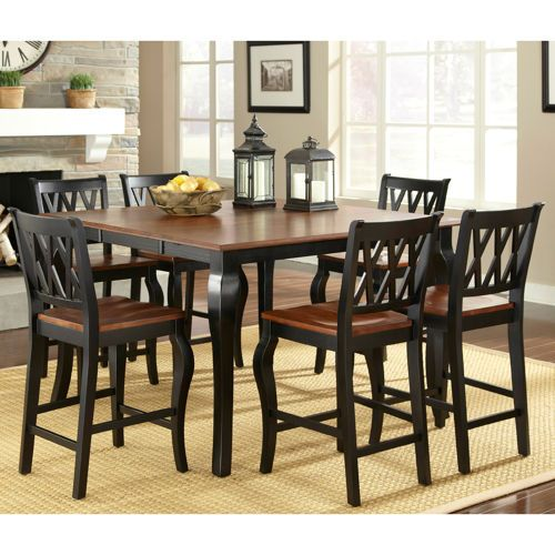 Roslyn 7 Piece Counter Height Dining Set LOVE The Idea Of A Square 6 Person Table