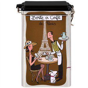 Derriere la porte metaldåse til kaffebønner i brun