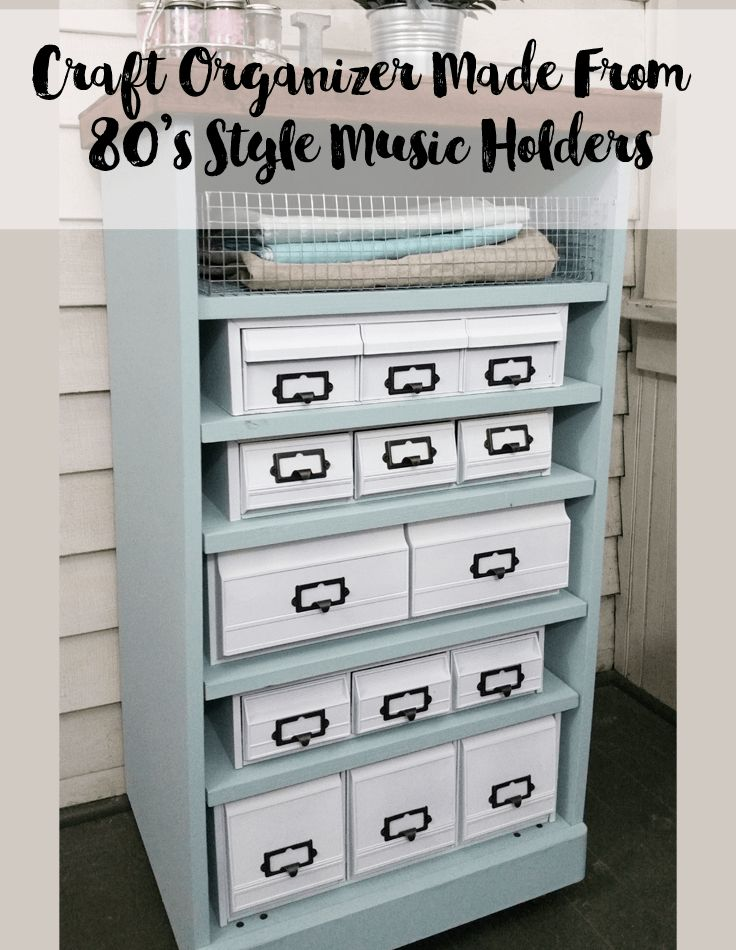 Cassette tape and VHS tape holders make up this awesome craft organizer for my craft supplies.  This is a budget friendly makeover too.  Love it!  #organize #craftsupplies #organization #diy #upcycle - www.michellejdesigns.com