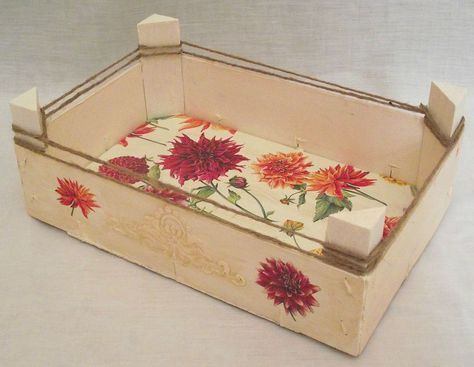 Mejores 146 im genes de cajas de madera de frutas o - Cajas de fruta decoradas ...