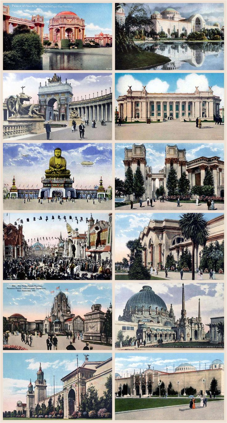 Postcards from the 1915 Panama Pacific International Expo in San Francisco
