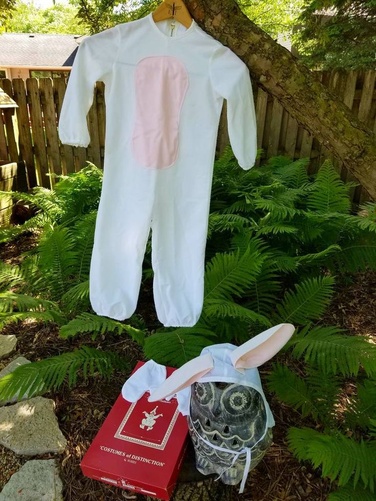 Vintage Children's Bunny Costume, Small Size 4-6, Costumes Of Distinction By Rubies, Includes Bunny Suit, Hat, Mitts & Original Box by FabsCardboardStore on Etsy
