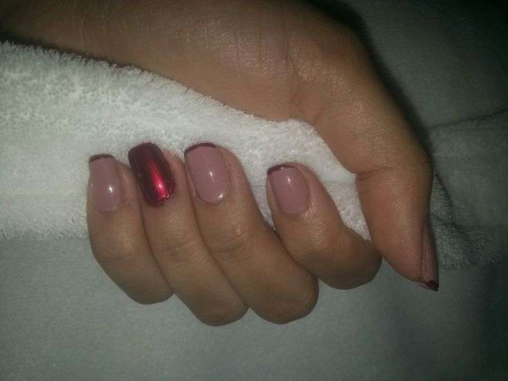 #nail #red #sparkles #shine #pink