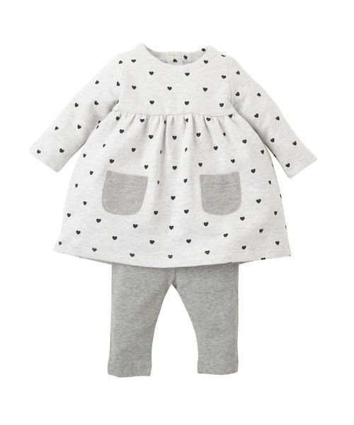 Heart Dress and Leggings Set - co-ordinated sets - Mothercare