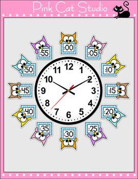 Owl Theme Clock Labels and Student Worksheets J'adooooooooooore!! Adopté!