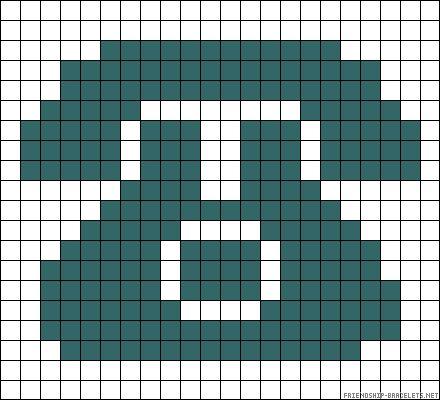 Small Retro Phone Chart For Cross Stitch Knitting