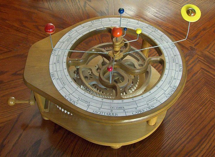 This Fun Mechanism Is A Hand Cranked Planetary Orrery That