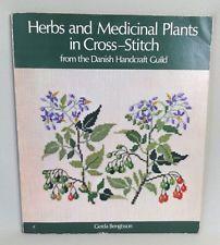 Örter och medicinalväxter i korsstygn Gerda Bengtsson 1979 HTF
