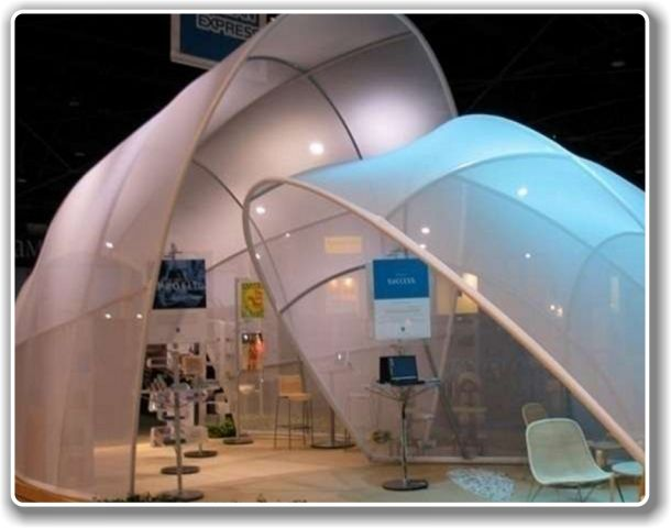 Stretch Fabric Exhibition Stands : Best curved seg images on pinterest exhibition booth