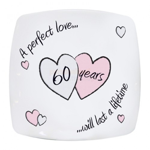 41 Year Anniversary Quotes: Diamond Anniversary Plate From Personalised Gifts Shop