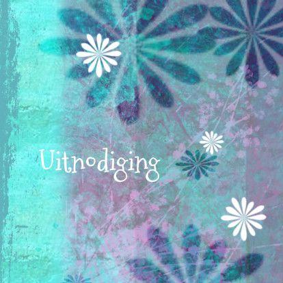 bloemenkaart grunge - Bloemenkaarten - Kaartje2go