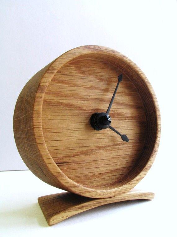 Wood Oak Clock by offcutstudio on Etsy