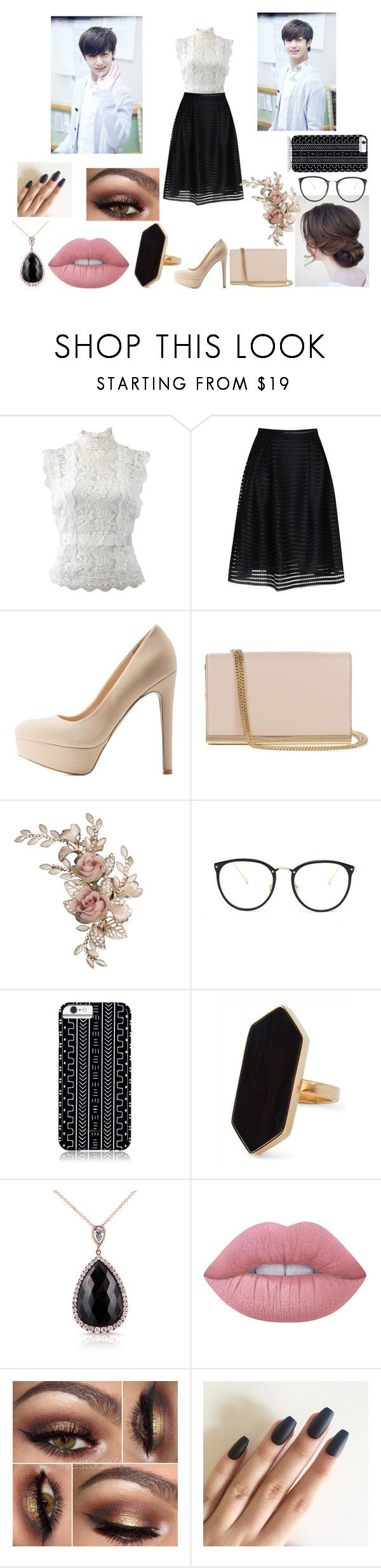 """""""The Clan: Part 1 (Hyungwon)"""" by youngandreckless-harley ❤ liked on Polyvore featuring Oscar de la Renta, Glamorous, Qupid, Diane Von Furstenberg, Linda Farrow, Savannah Hayes, Jaeger, Kobelli and Lime Crime"""