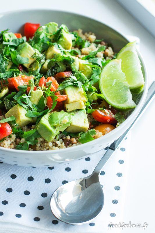 Salade de Quinoa, Lentilles et Avocat - Food for Love