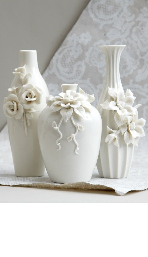 """white vases"" white flower vases, vase ideas, from $50, vases fillers, vases for centerpieces, vases for wedding centerpieces, white bedroom, white bedroom decor, white bedroom furniture, white bedroom lighting white living room, white living room decor, white living room furniture, white living room lighting white home decor, white home decor ideas, home decor, for more beautiful white inspirations use search box term ""white"" @ click link: InStyle-Decor.com"