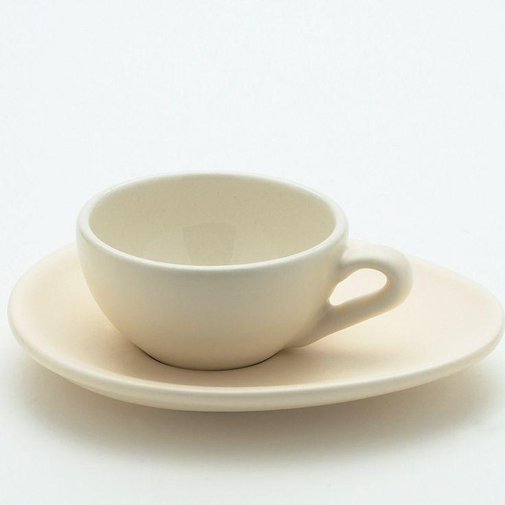 Keramikk Espresso Kopp & Skål, Sett av 4, Krem, Nigella Lawson