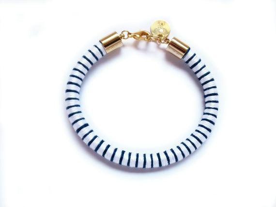 Nautische armband met Marine strepen armband door JewelryPops