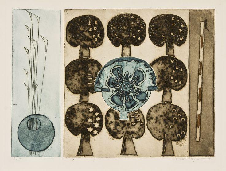 Jan Montyn: Les arbres de la promesse, 1977, etching