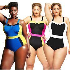 Sexy Plus Velikost plavky Women Retro Push up Vyztužená podprsenka z jednoho kusu pláž Plavky