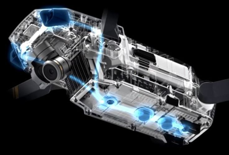 DJI Mavic Pro with Vision and Ultrasonic Sensors for collision avoidance