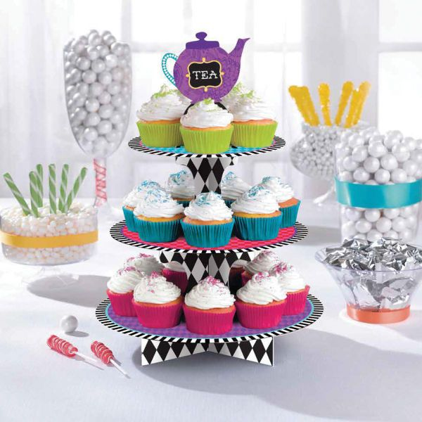 Mad Hatter Alice in Wonderland Party Cupcake Afternoon Tea Cake/Treat Stand  | eBay