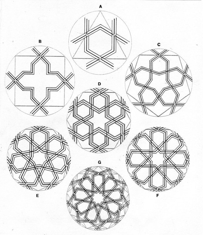 https://flic.kr/p/dpEe4n | DOC69/8227 - Polygons and Islamic geometric design | P. 171 in: CRITCHLOW, Keith (1976). Islamic Patterns. An Analytical and Cosmological Approach. Thames and Hudson, London. ISBN 0 500 27071 6