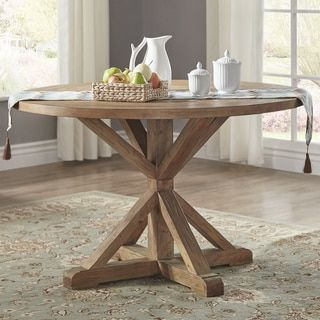 Shop for Benchwright Rustic X-base 48-inch Round Dining Table Set by SIGNAL HILLS. Get free shipping at Overstock.com - Your Online Furniture Outlet Store! Get 5% in rewards with Club O!