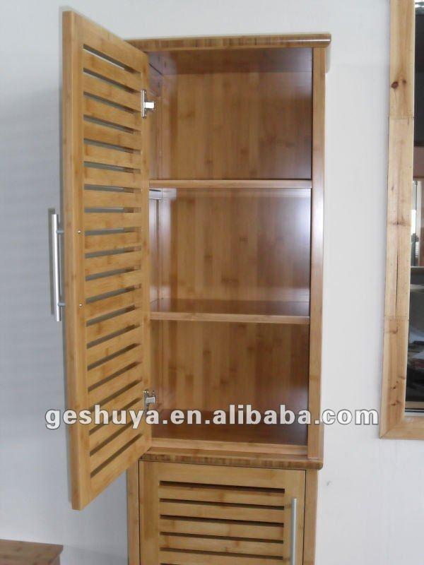 Bamboo Bathroom Cabinet VesmaEducation Com