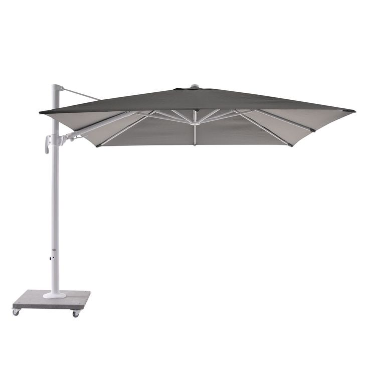 Bellini Home and Garden Block White Palermo 10' Cantilever Parasol with Granite Base
