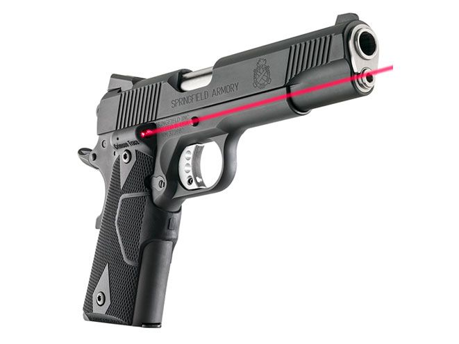 The new Springfield Armory 1911 Loaded Parkerized pistol is now available with Crimson Trace Lasergrips.