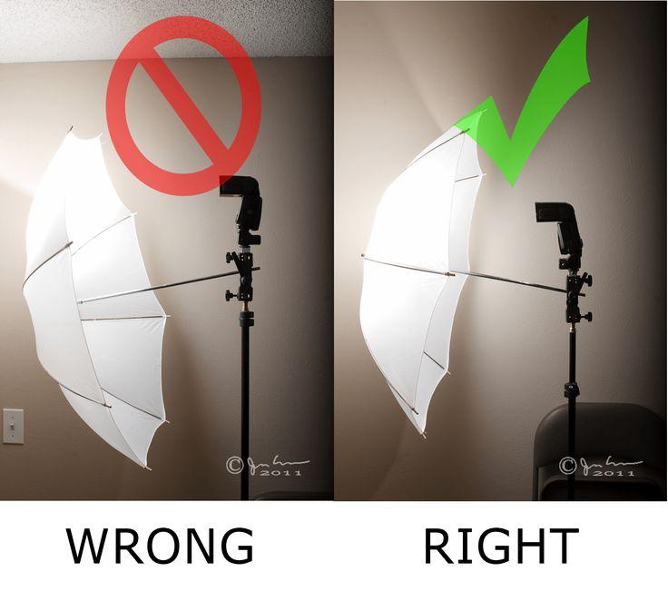 how to use studio umbrellas