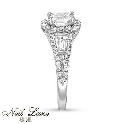 Kay - Neil Lane Engagement Ring 1-7/8 ct tw Diamonds 14K White Gold