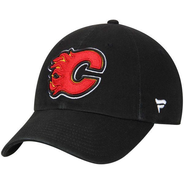 Youth Calgary Flames Fanatics Branded Black Fundamental Adjustable ... a6611e2dd54c