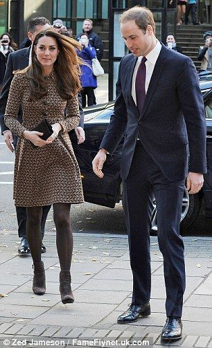 The Duke and Duchess of Cambridge at the office of Only Connect. November 19, 2013