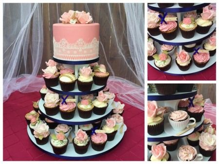 navy blue and blush pink wedding cakes vintage wedding cake and cupcakes blush pink navy blue 17746
