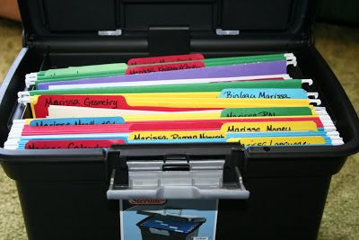 Montessori Work Box Ideas! Brilliant way to organize all those 3 part cards and math papers!