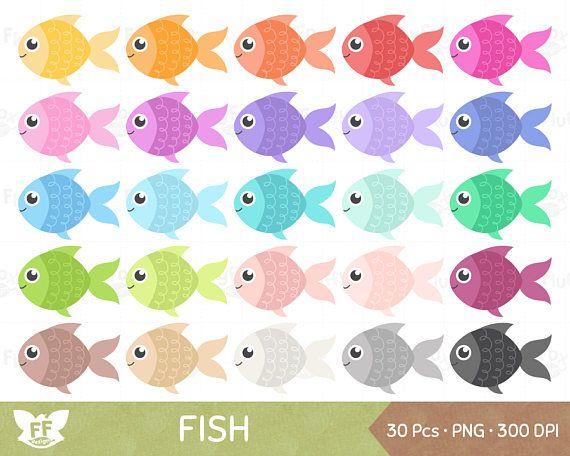 30+ Cute Fish Head Clipart