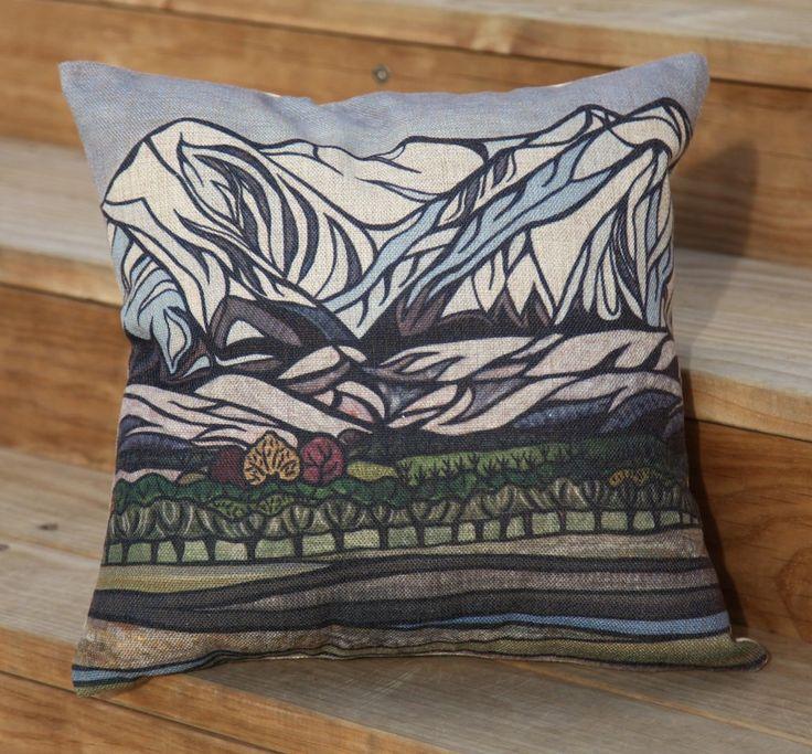 """Torlesse Range"" Cushion Cover."