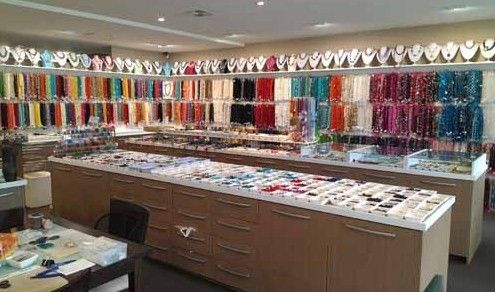 The Bead Them Up showroom, is located at Ramsgate (10 minutes drive South from Sydney Airport), a visit to our showroom or website is a must. Bead Them Up's customers have been very impressed with the range and quality of beads available