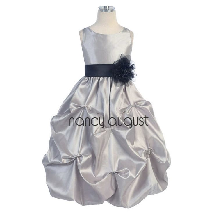 10  ideas about Silver Flower Girl Dresses on Pinterest  Flower ...