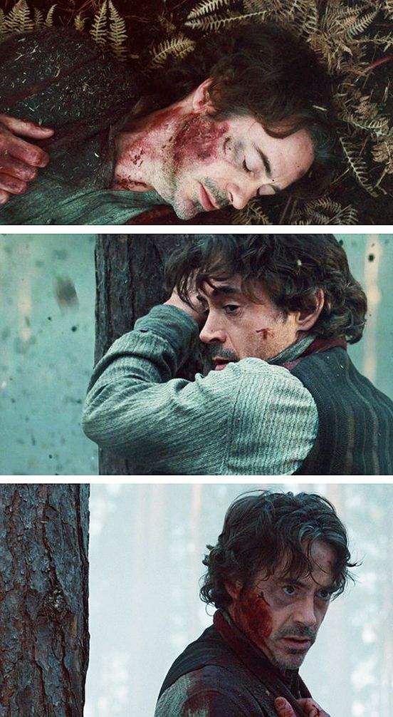 Robert Downey Jr.: Wounded!Holmes being incredibly attractive.