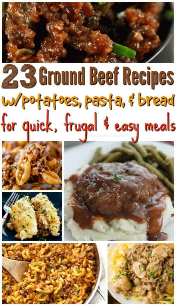 23 Ground Beef Recipes With Potatoes Or Pasta Ground Beef Recipes Beef Recipes Beef Dinner