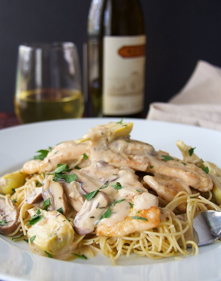 Find this Turkey Scallopine in Sherry Cream Sauce with Wild Mushrooms and Artichoke Hearts and other great recipes at A Cookbook Obsession